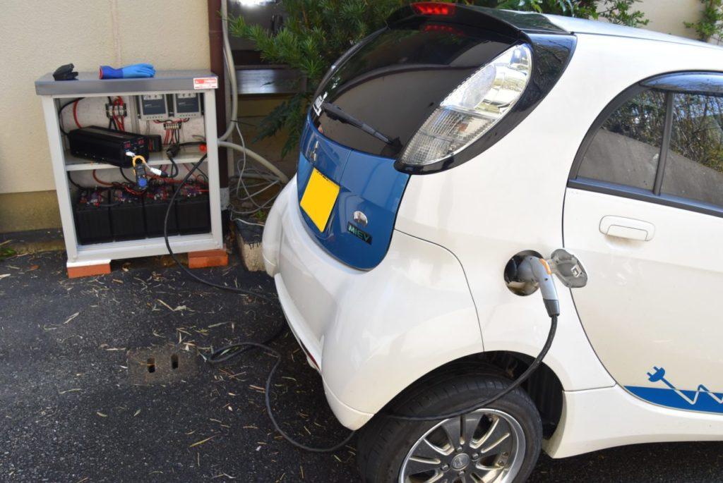 電気自動車を充電